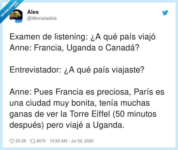 canadá,entrevistador,francia,inglés,listenings,uganda