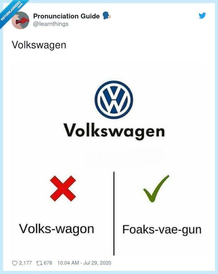 pronunciación,volkswagen