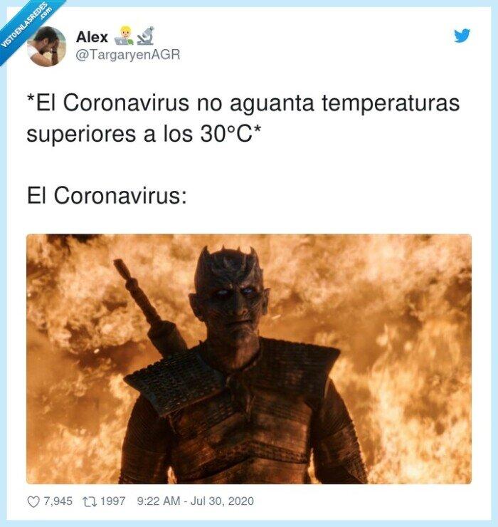 calor,coronavirus,juego,noche,rey,temperaturas,tronos