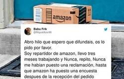 Enlace a Un repartidor de Amazon desvela que hay gente que les valora negativamente para ahorrarse dinero y cómo esto le está jodiendo la vida pese hacer bien su trabajo