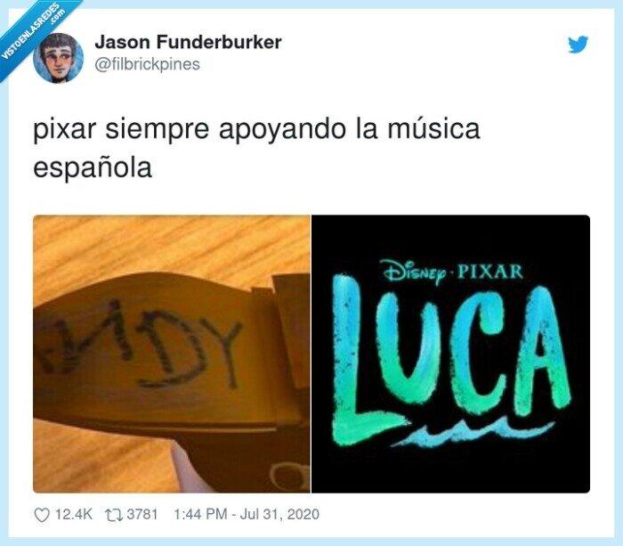 apoyando,española,música,pixar