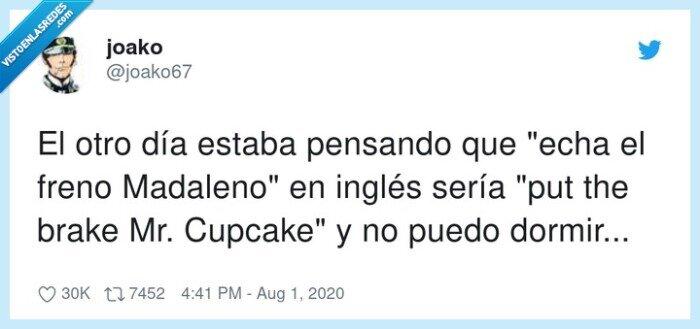 cupcake,inglés,madaleno,pensando