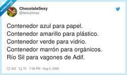 Enlace a Recordatorio de cómo funciona el nuevo reciclaje, por @fenixzintas