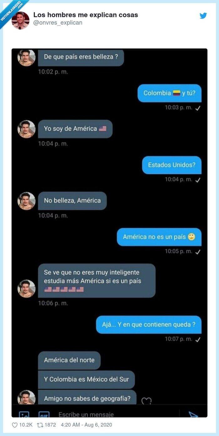 américa,colombia,continente,conversación,estadounidenses,méxico,país