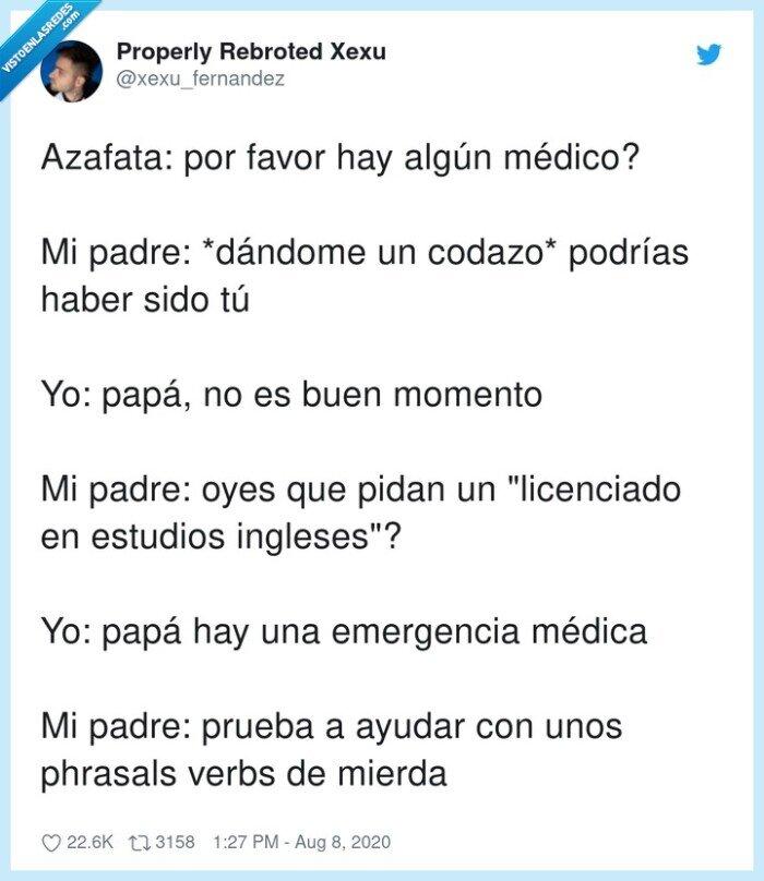 emergencia,inglés,licenciado,médico,phrasal,verbs