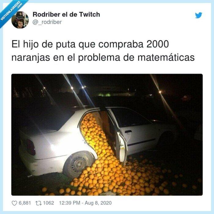 comprar,matemáticas,naranjas,problema