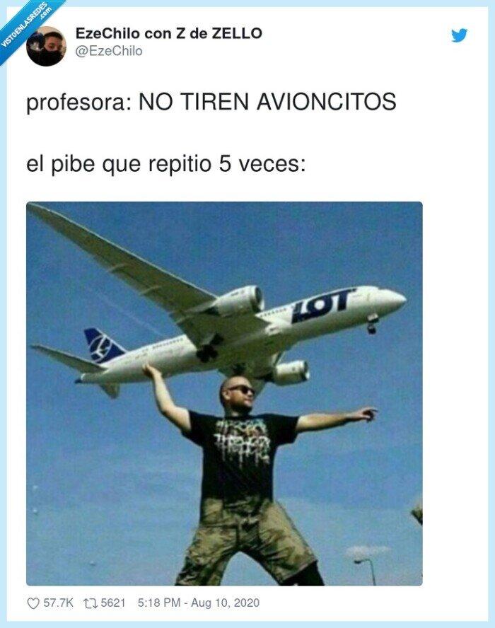 avioncitos,aviones,colegio,profesora,repetidor