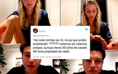656402 - Indignación total en las redes con este político por los comentarios machistas que le propició a su propia mujer en una videollamada que fue emitida en directo