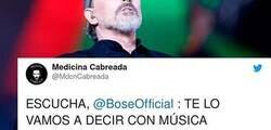 Enlace a Un cuenta de médicos le dedica un mensaje a Miguel Bosé con una original lista de Spotify para que deje de lado sus teorías conspiranoicas, por @MdcnCabreada