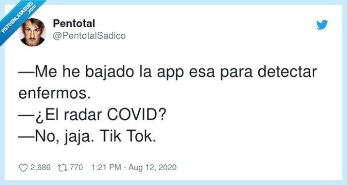 app,covid,enfermos,tiktok