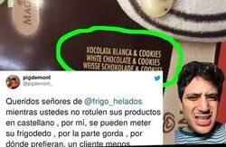 Enlace a Un tuitero incita a hacer boicot a Frigo por no rotular este helado en castellano y le trolean hasta decir basta