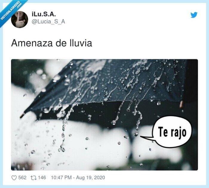 amenaza,lluvia