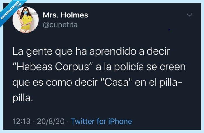 España,HabeasCorpus,humor,ley,magia,policía,twitter