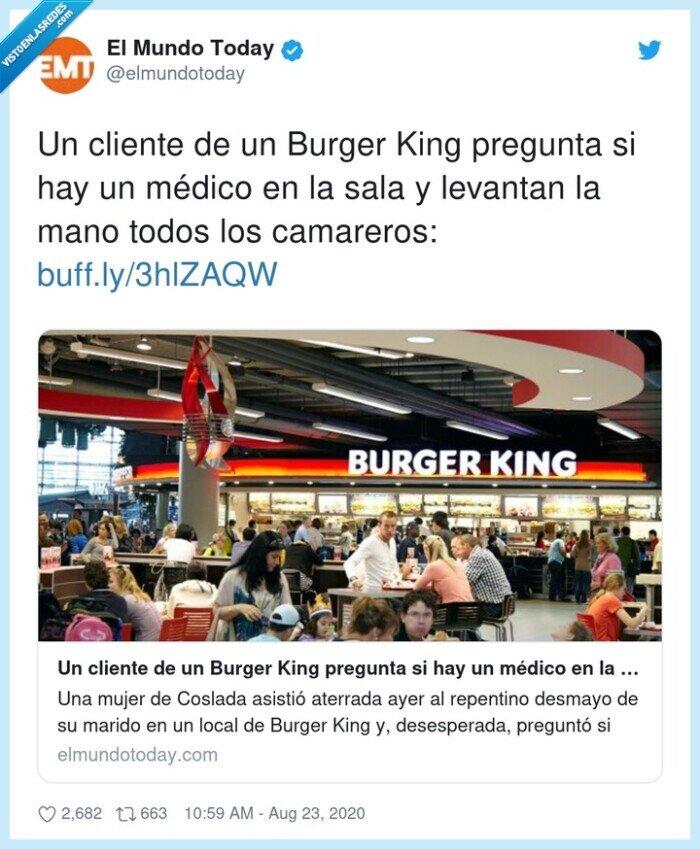 burger,camareros,cliente,médico