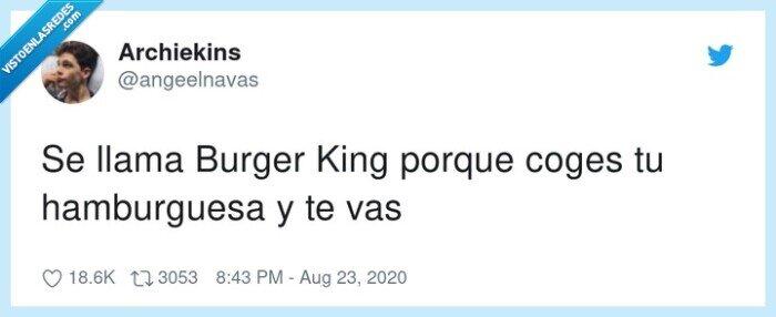 burger,coges,emérito,hamburguesa,king,porque,rey