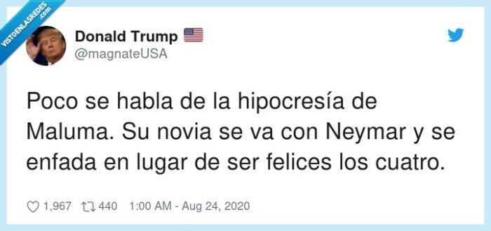 cuatro,felices,hipocresía,maluma,neymar