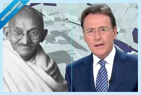 668555 - Matías Prats lo ha vuelto a hacer: cuela un 2x1 de chistes malos en una noticia sobre Gandhi y se gana el respeto de las redes