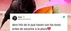 Enlace a Explica lo que le hacen a los toros antes de entrar a la plaza y genera un debate brutal en Twitter, por @lunaamarrtiinez
