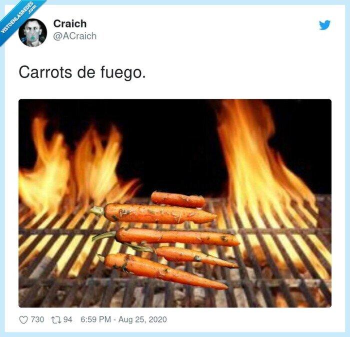 carrots,fuego,humor,zanahorías