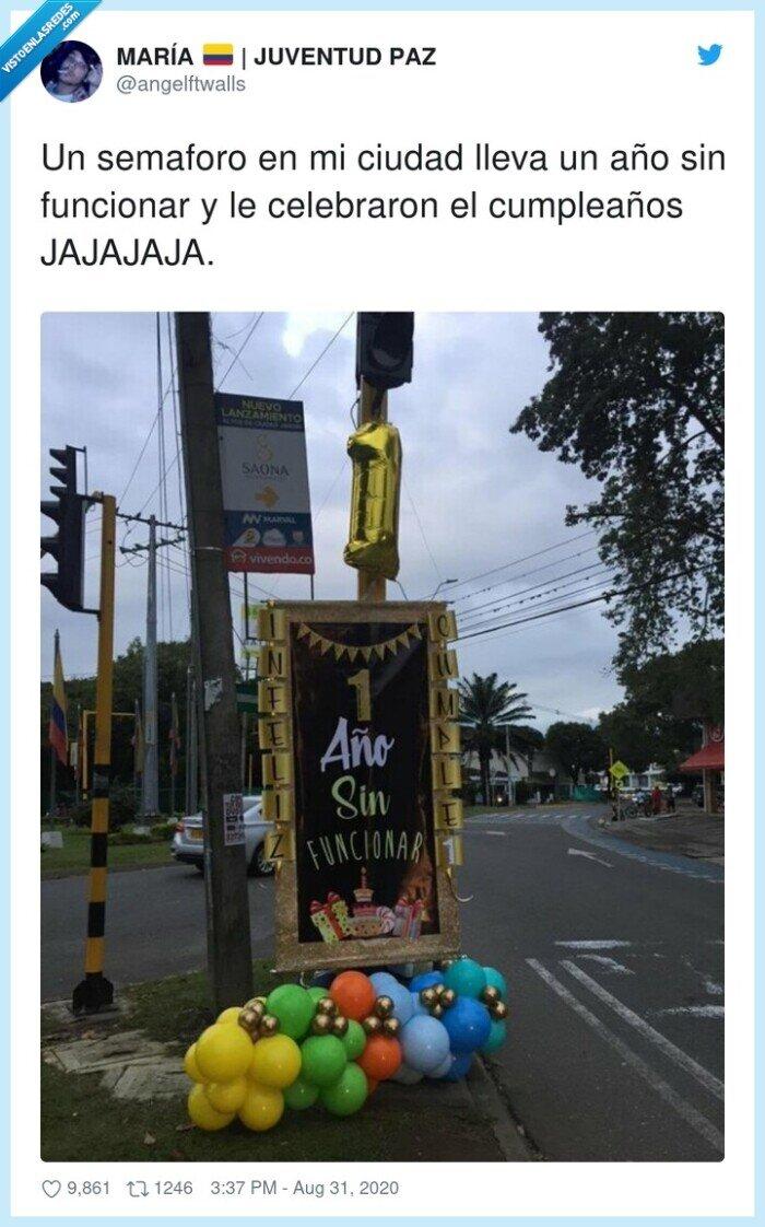 celebración,cumpleaños,funcionar,semáforo