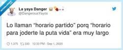 Enlace a Horario pa'ti no, por @DangerousYayos