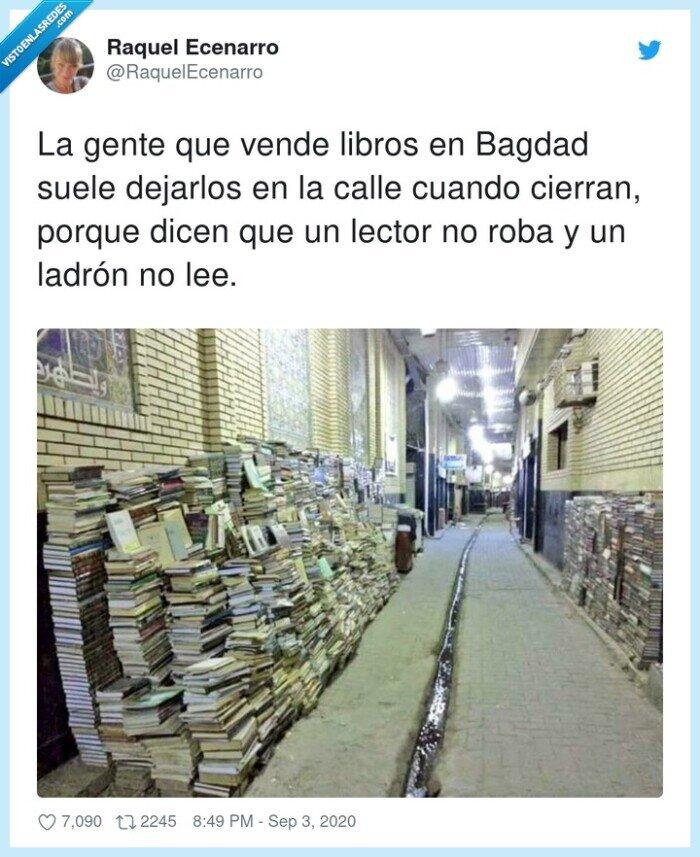 bagdad,calle,ladrón,libros,vender
