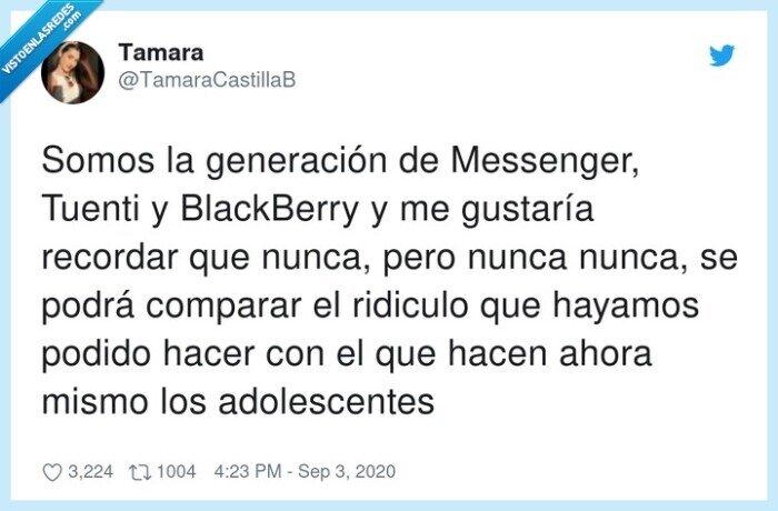 adolescentes,blackberry,generación,messenger,ridículo