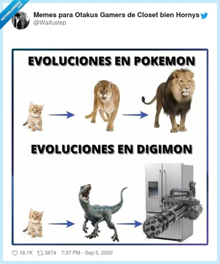 diferencia,digimon,evolucion,pokemon