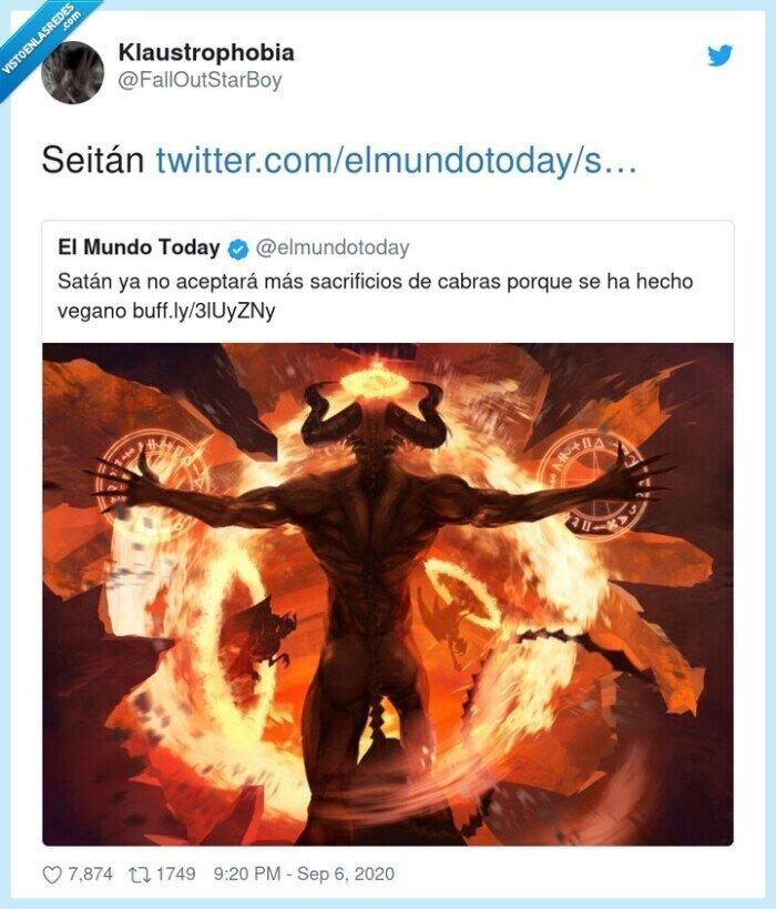 satán,seitán,vegano