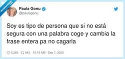 Enlace a Yo en el writing de inglés be like, por @paulagonu