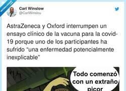 Enlace a Lo peor de todo es que se trata de la vacuna de la que España ha comprado tres millones de dosis, por @CarlWinslou