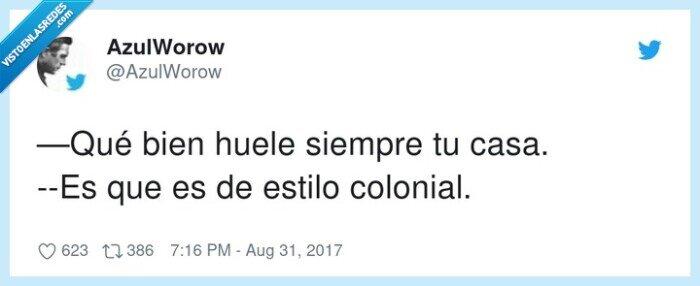 bien,casa,estilo colonial,oler
