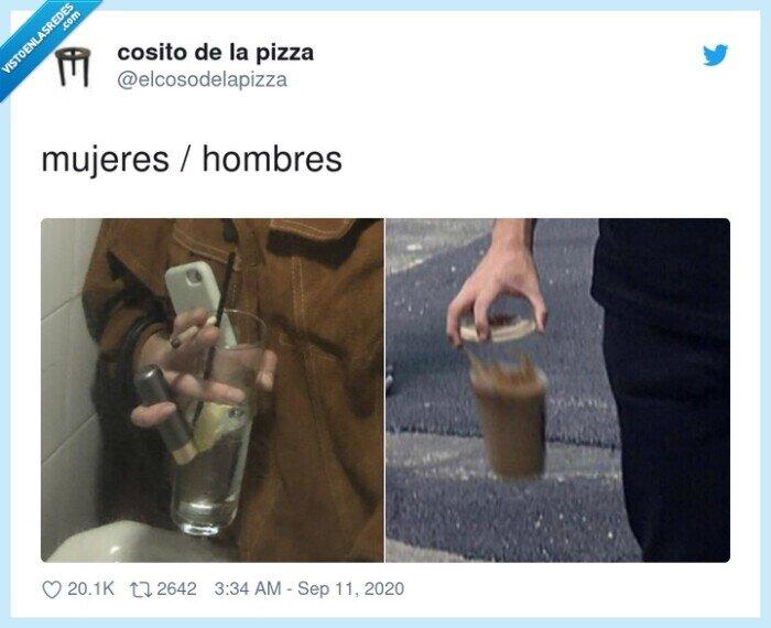 hombres,mujeres,sujetar,vaso