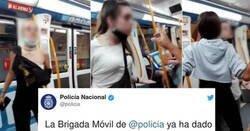 Enlace a La noticia que todo el mundo estaba esperando relativo a las tres macarras del metro, por @policia
