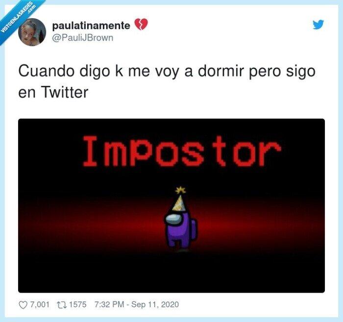 among us,dormir,impostor,twitter