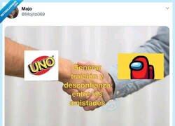 Enlace a UNO y Among Us, perfectos para destruir amistades, por @Mojito069