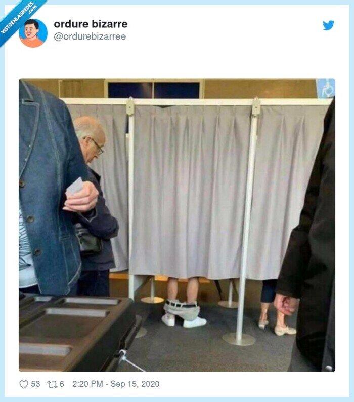 cabina,mear,votar