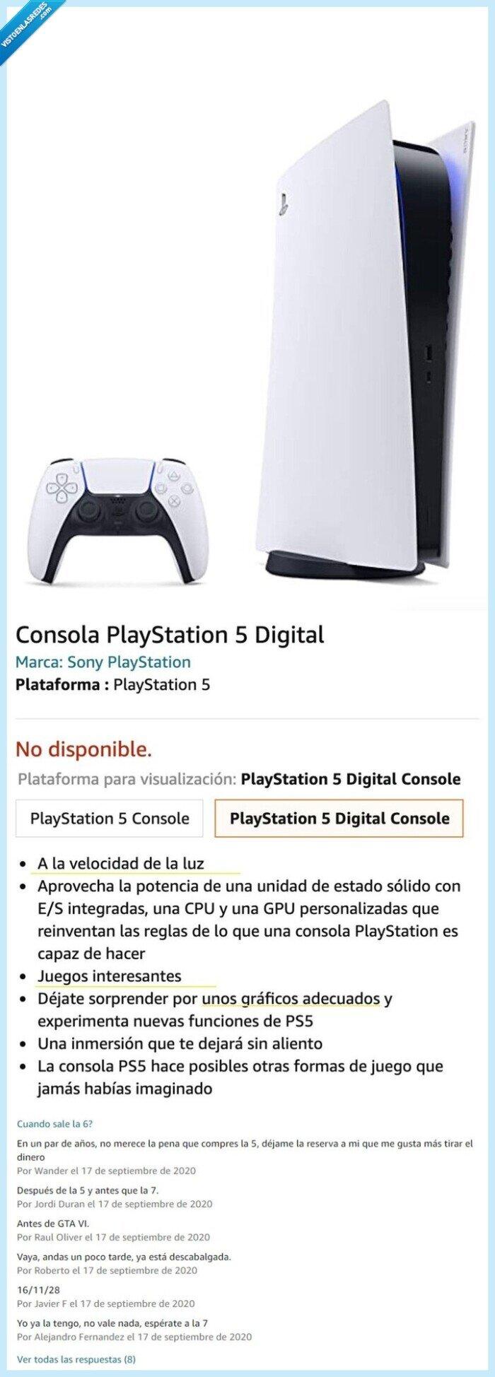 amazon,descripción,playstation 5