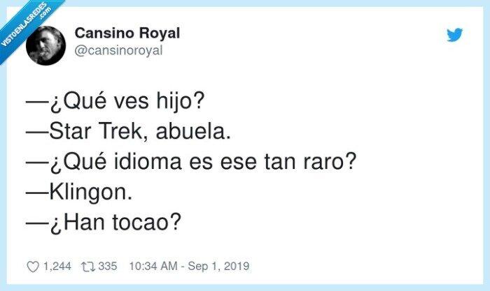 abuela,idioma,klingon,star trek,tocado