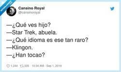 Enlace a Suena el timbre, por @cansinoroyal