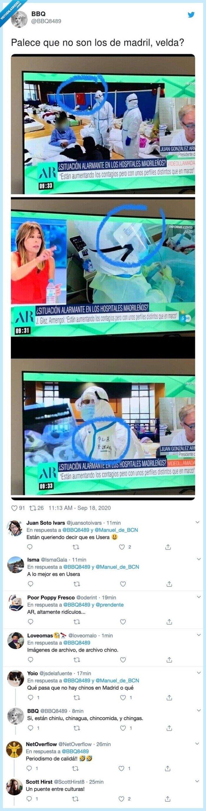 690400 - Ana Rosa Quintana intenta sembrar el pánico con imágenes de Hospitales saturados en
