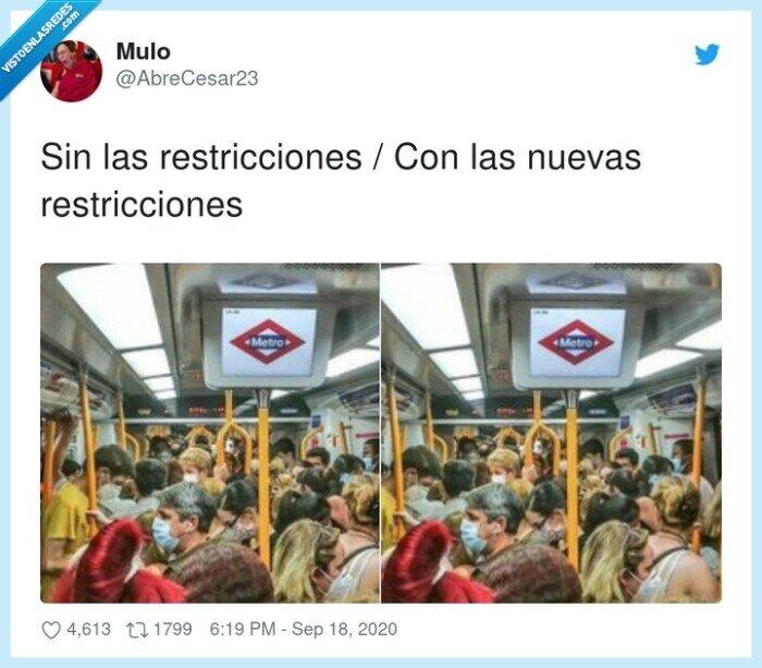 madrid,restricciones,transporte urbano