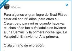 Enlace a Brad Pitt ligaría hasta en el Congreso Nacional de Machos Heterosexuales Muy Hombres, por @Fel_blan