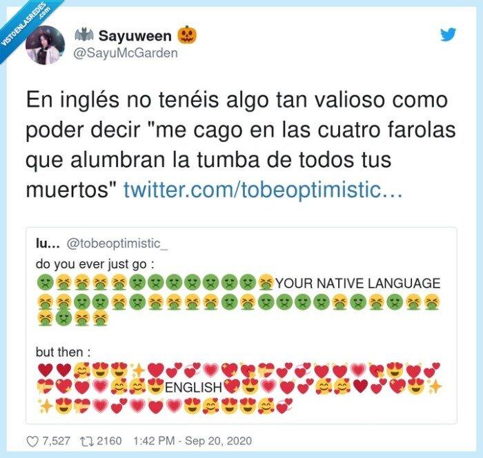castellano,farolas,idiomas,inglés