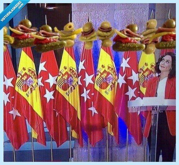 693077 - El ridículo con las banderas de Ayuso y Pedro Sánchez provoca una avalancha de memes a cada cual mejor
