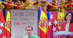 Enlace a El ridículo con las banderas de Ayuso y Pedro Sánchez provoca una avalancha de memes a cada cual mejor