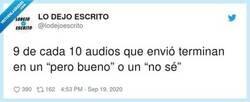 Enlace a No tengo pruebas pero tampoco dudas, por @lodejoescrito