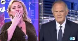 Enlace a La transición surrealista de 'Sálvame' a los 'Informativos Telecinco' que ha dejado a Pedro Piqueras con el rostro totalmente desencajado