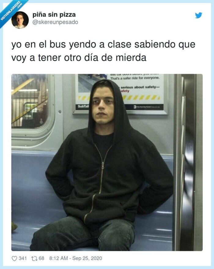 clase,día,metro,mierda