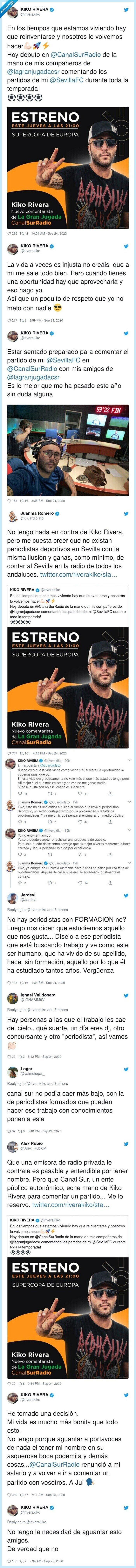 críticas,deportivo,dimisión,kiko,lío,periodista,rivera,twitter